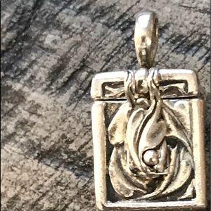Sterling silver Prayer Box Charm